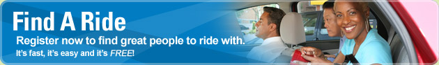 Find A Ride - Need a new carpool or vanpool partner? You're just a few clicks away.